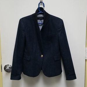 Blue Tweed Blazer   Zara